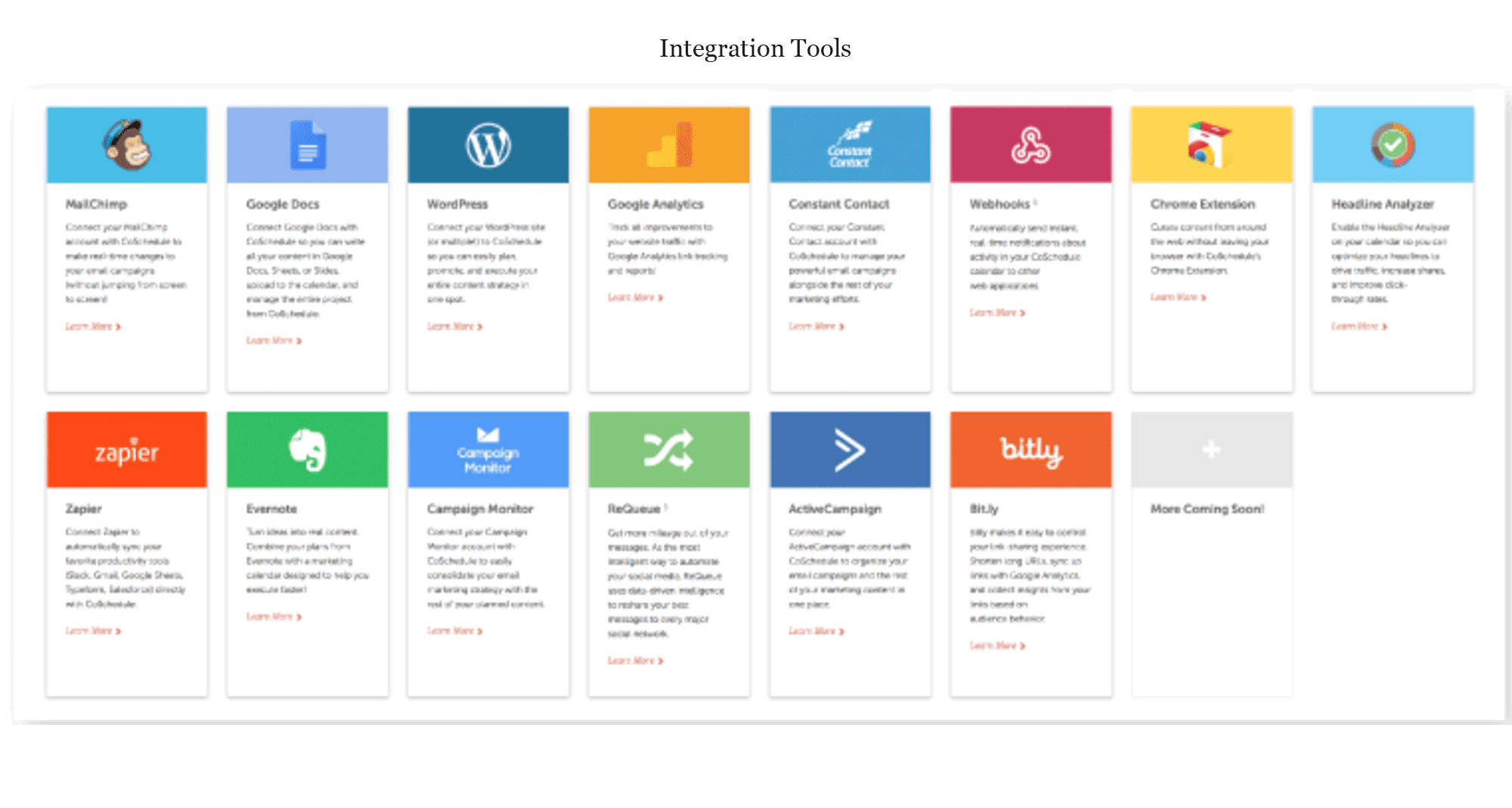 CoSchedule Integrations